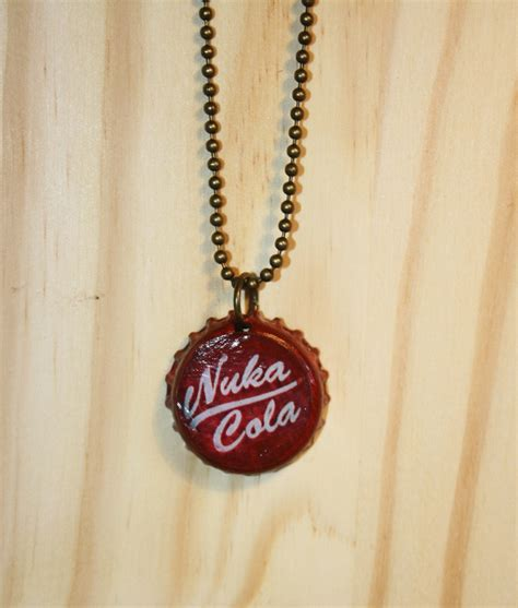 Nuka Cola L Etsy by Fallout Nuka Cola Bottle Cap Necklace By Timataetrinkets