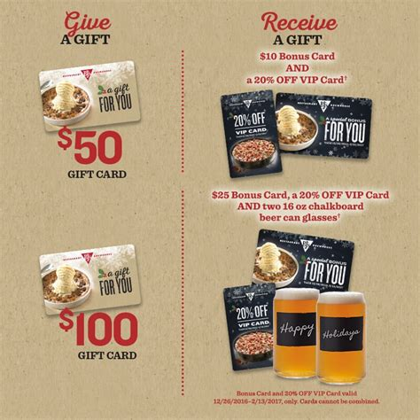Bj's restaurant gift card $30 physical card mailed. BJ's Restaurant and Brewhouse $10 or $25 Bonus with Purchase of $50 or $100 Gift Card plus 20% ...