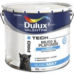 peinture blanche mur et plafond pro tech dulux mat 10 l leroy merlin