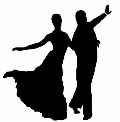 Dancing Silhouette Foxtrot Dancers Dance Ballroom Clip