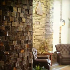 Reclaimed wood wall tiles modern decorating ideas