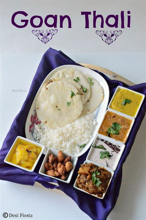 cuisines as goan thali a simple goan lunch menu