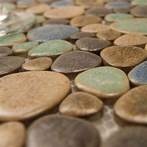 copper backsplash tiles wholesale porcelain tile mosaic pebble design shower tiles