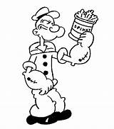 Popeye Spinach Coloring Pages sketch template