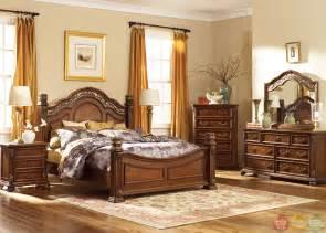messina estates traditional european style poster bedroom set