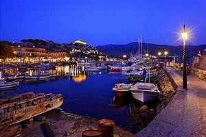 A Night At The Small Harbour Of Molyvos  A Photo From Lesvos  North Aegean
