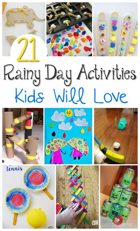 rainy day activities crafts  images rainy day