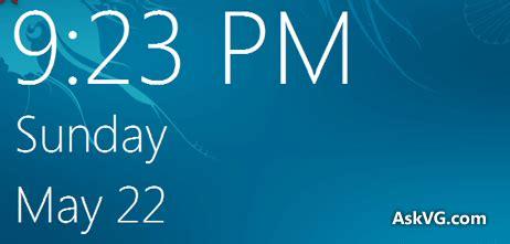 windows lock screen style date time display windows