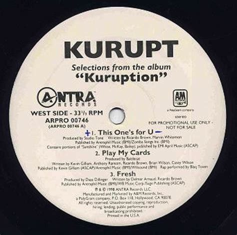 Kurupt Records, Lps, Vinyl And Cds Musicstack