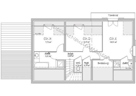 plan maison etage 3 chambres gratuit plan maison etage 3 chambres gratuit 5 plans de maisons
