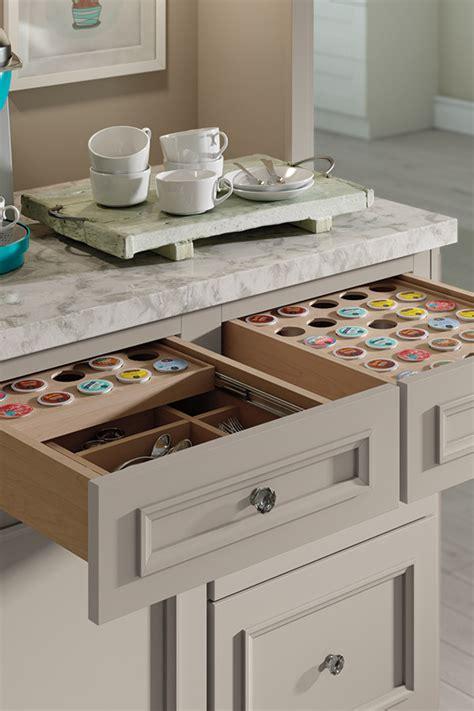 kitchen cabinet interior organizers k cup storage drawer decora cabinetry 5522