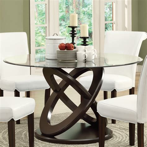 joanne glass dining table elegant  classic dining