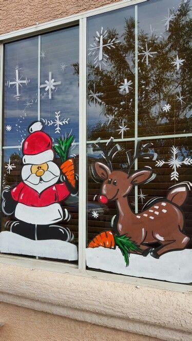 christmas window painting ideas 80 best window art painting images on pinterest christmas shop displays christmas windows and