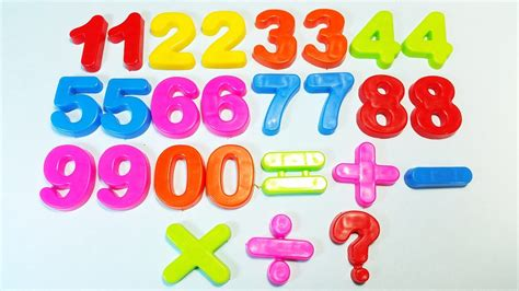 Count With Magnet Plastic Numbers In English For Toddlers