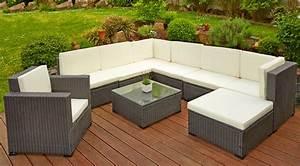 poly rattan sitzgruppe sitzgarnitur gartenmobel lounge With französischer balkon mit garten sitzgarnitur