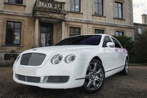 White Bentley by White Bentley Flying Spur Hire Birmingham By Midlands
