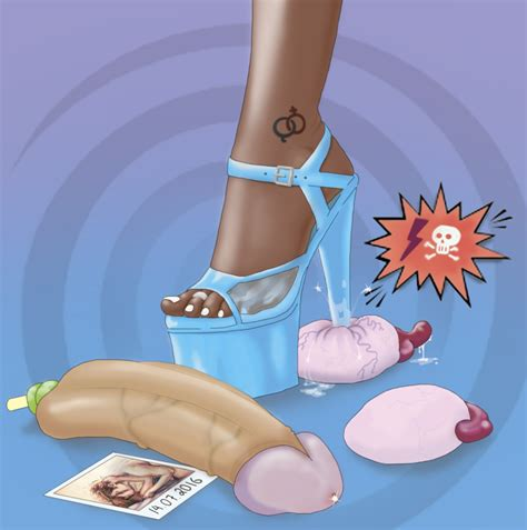 Rule 34 Balls Castration Cock And Ball Torture Eunuch Exposed Testicle Femdom Open Toe Shoes