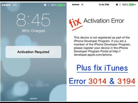 iphone activation required how to fix ios 7 activation required itunes 3014 3194