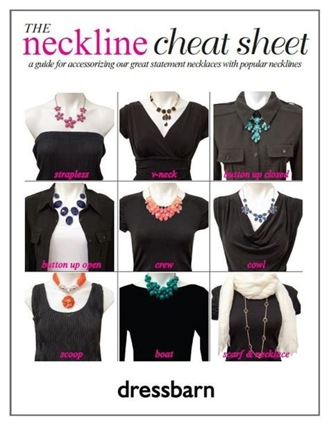 How To Accessorize A Boat Neck Dress by Necklace Neckline Guide Tips And Ideas