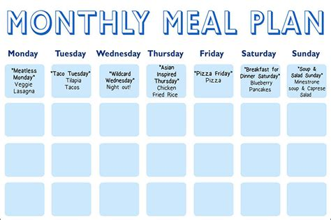 meal planning calendar oz s meal planning calendar the dr oz show