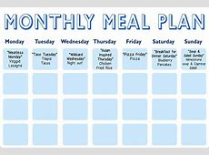 Daphne Oz's MealPlanning Calendar The Dr Oz Show