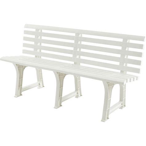 banc 3 places de jardin en r 233 sine plastique isotta blanc