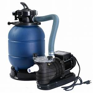 New Pro 2450gph 13 U0026quot  Sand Filter Above Ground 10000gal