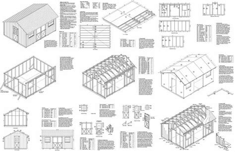 12 x 16 utility storage saltbox shed plans material