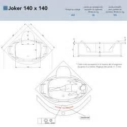 Dimension Baignoire D Angle 140 by Baignoire Baln 233 O D Angle Joker 140x140 Grandform Anjou