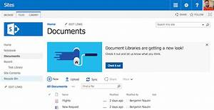 Sharepoint changes ahead new document library sharegate for Document library experience