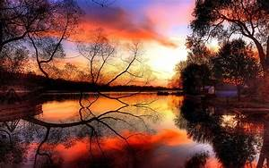 Reflection in the water beautiful scenery wallpaper 2 ...
