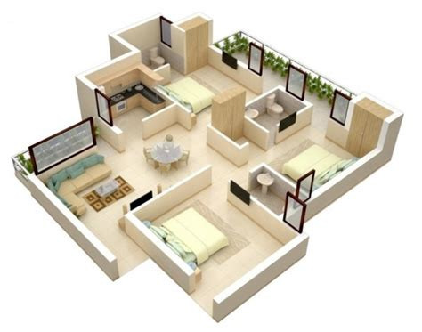 bedroom floorplan 3 bedroom apartment house plans