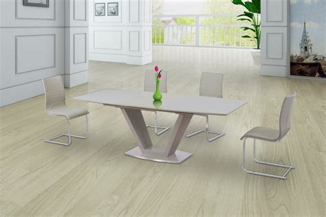 high glass dining table cream glass high gloss extending dining table and 6 gloss