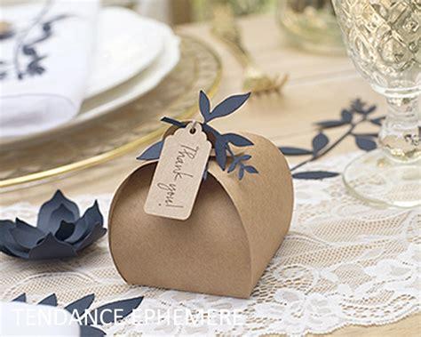 Boite A Dragées Mariage Boite Drage Kraft Originale Etiquette Et Ficelle Paquet De 10