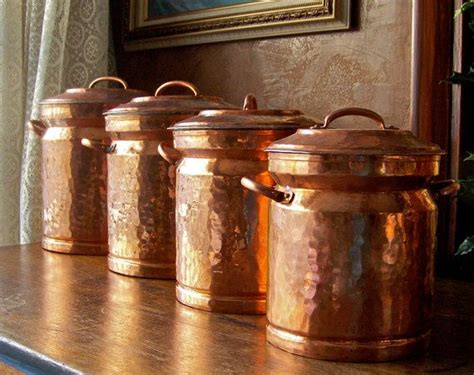 Antique Canisters Kitchen by Vintage Turkish Copper Canister Set Bits And Bobs