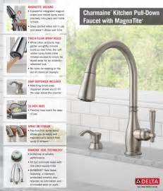 home depot delta kitchen faucets delta charmaine single handle pull sprayer kitchen faucet with soap dispenser and magnatite