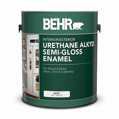 Alkyd Behr Paint Enamel Gloss Semi Primer