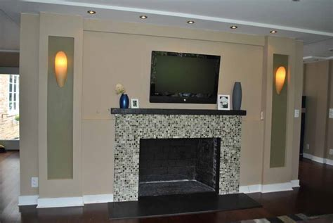 ideas fireplace mantel wall paint ideas with light