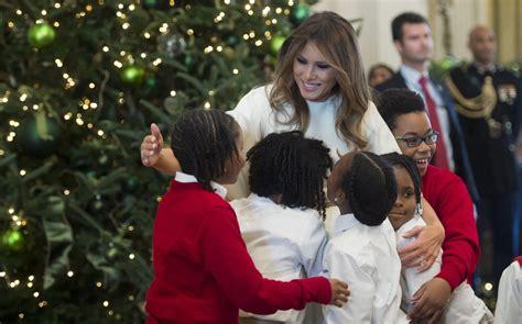 melania trump accused  inviting  black children