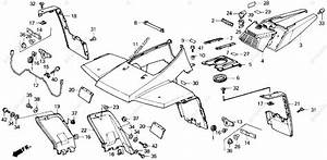 Honda Atv 1986 Oem Parts Diagram For Front Fender