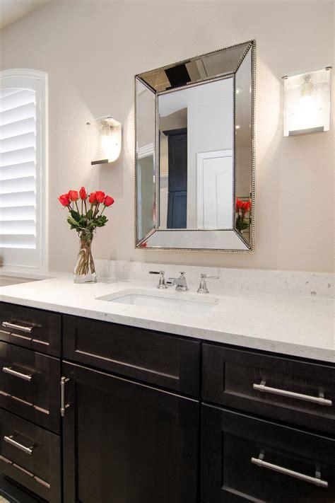 antique beaded bathroom vanity mirror  sconce lighting