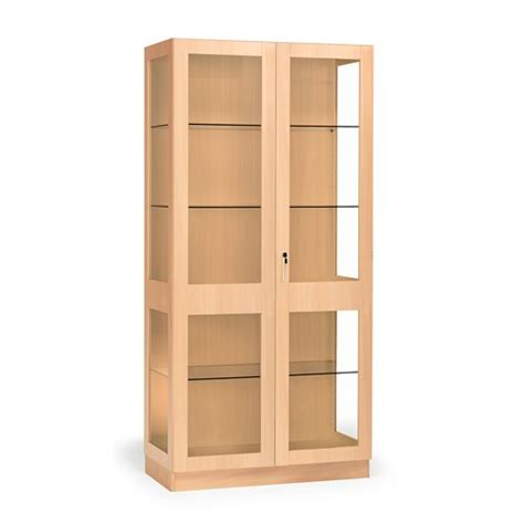 Display Cabinets Ireland - glass display cabinet theo 1000x500x2100 mm beech frame
