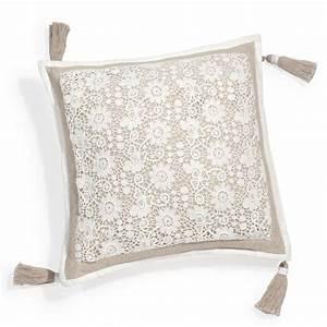 Housse De Coussin 40x40 Maison Du Monde : housse de coussin en coton beige 40 x 40 cm wonderful maisons du monde ~ Melissatoandfro.com Idées de Décoration