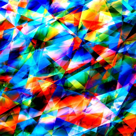 colorful geometric art background cracked or broken glass