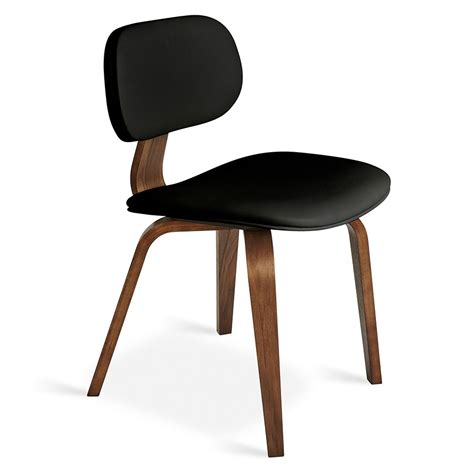 walnut dining chairs gus modern thompson chair in black walnut eurway 6459