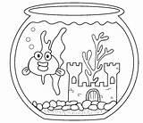 Coloring Goldfish Aquarium Fish Sheets Nutcracker Bowl Animals Advertisement Popular Library Clipart sketch template