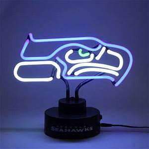 Seattle Seahawks Team Logo Neon Light Seahawks Pro Shop