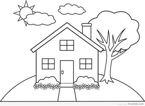 pin  julia  colorings house colouring pages house
