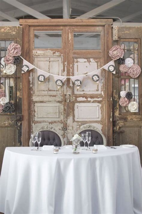 Wedding Head Table Use A Vintage Door For Your