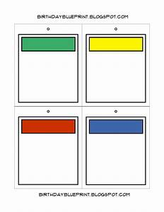birthday blueprint board game party With monopoly property cards template